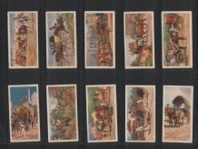 Cigarette cards Tobacco cards Modes of Conveyance, Mail Coach, Elephant , etc